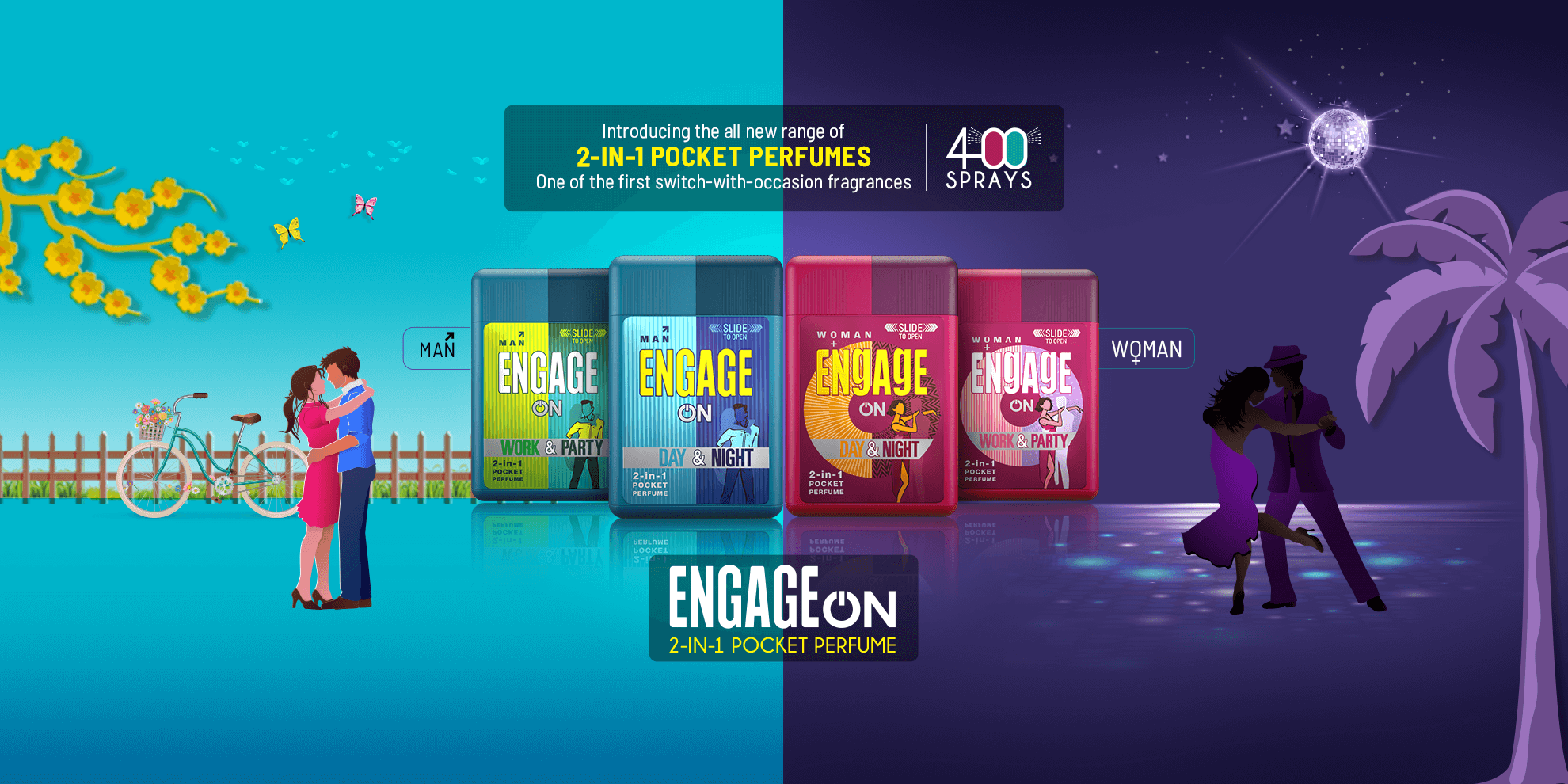 Engage Double Perfume - 2-in-1 Pocket Perfume
